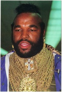 Mr. T Wearing Gold Chains The A-Team Original 1980s Postcard