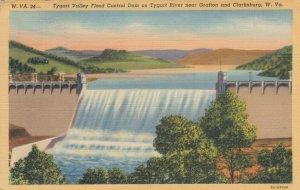 WEST VIRGINIA , 1941 ;Tygart Valley Flood Control Dam on Tygart River