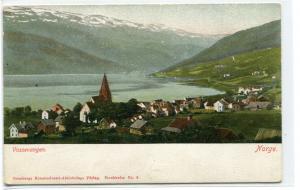 Panorama Vossevangen Norge Norway 1910c postcard
