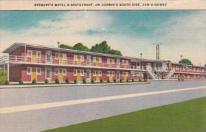 Kentucky Corbin Stewarts Motel &  Restaurant