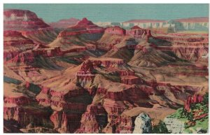 Postcard - Grand Canyon From Moran Point, Arizona