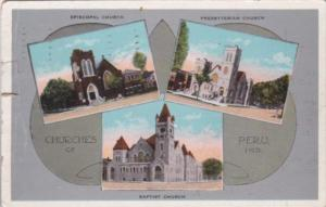 Indiana Peru Episcopal Church Baptist Church & Presbyterian Church 1939