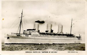 Canadian Pacific Lines - SS Empress of Britain (sunk 1940)    RPPC