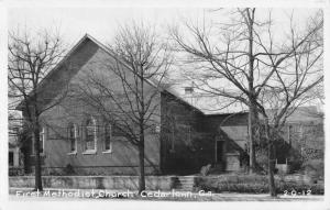 Cedartown Georgia First Methodist Church Real Photo Antique Postcard K10366