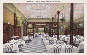 Illinois Chicago Henrici's Restaurant Dining Room
