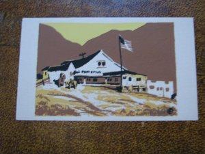 Topanga Canyon CA Serigraph Hand-Made Postcard Sheehan