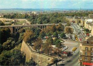 Postcard Luxembourg place de la constitution et boulevard roosevelt bridge city