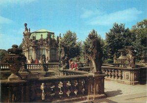 Germany Postcard Dresden Zwinger terrace with Wall Pavilion