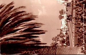California Santa Monica Downtown Wilshire Boulevard Real Photo