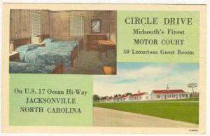 Circle Drive Motor Court, Jacksonville, NC, 30-40s