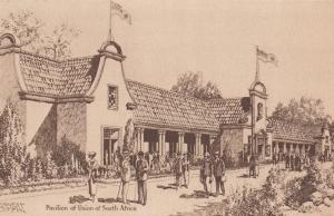 South Africa African Pavillion London Franco Exhibition Rare Artist Postcard