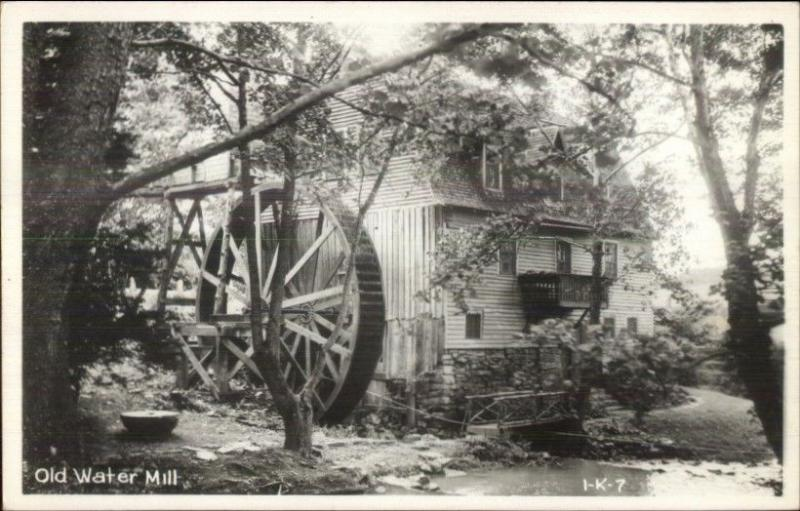 TN? Old Water Mill Cline Real Photo Postcard EXC COND