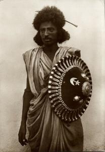 eritrea, Native Bileno Warrior, Shield (1936) RPPC Postcard