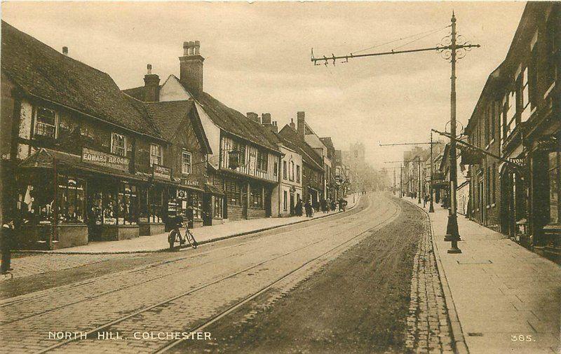 C-1910 Essex UK North Hill Colchester M Series postcard 7641