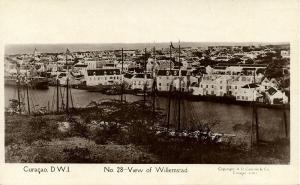 curacao, D.W.I., WILLEMSTAD, Partial View (1920s) Capriles  RPPC 28