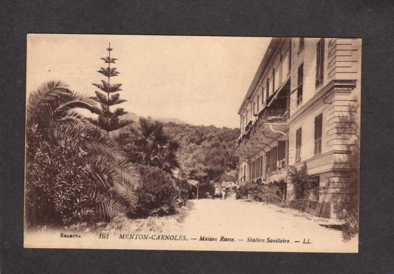 France Menton  Carnoles Maison Russe Sanitaire  Carte Postale Postcard French