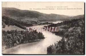 Old Postcard Tour in Franche Comte Frontiere Franco Suisse Entree Basins of D...