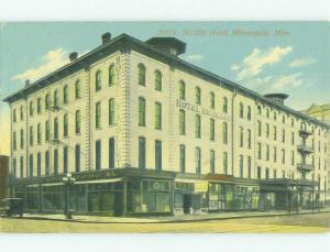 Divided Back SHOPS ON STREET & NICOLETT HOTEL Minneapolis Minnesota MN HQ5265