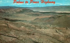 Vintage Postcard 1966 Palms-To-Pines Highway Coachella Valley California CA