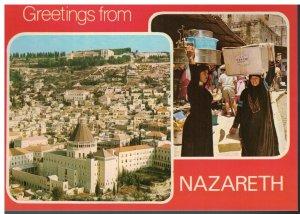 Postcard - Greetings From Nazareth Israel