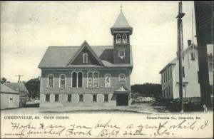 Greenville ME Union Church TUCK c1905 Postcard