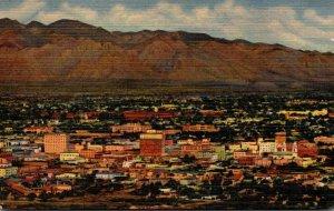 Arizona Tucson As Seen From A Mountain Curteich