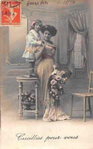 Cueillies pour vous! Roses Flowers Picked for you! Lady, Girl 1911