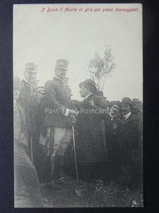 Vesuvius Eruzione del Vesuvio  DUKE OF D'AOSTA INSPECTS DAMAGE 1906 RARE PC