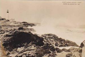LIGHTHOUSE , Portland Head Light , Cape Elizabeth , Maine , 1910s