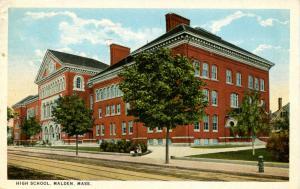 MA - Malden. High School