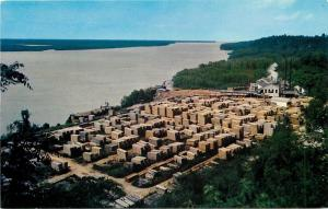 Natchez Under the Hill Mississippi~R F Learned & Son Sawmill~1950s Birdseye PC