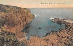 LPS13 Ogunquit Maine Bald Head Cliff Hand Colored Albertype  Postcard
