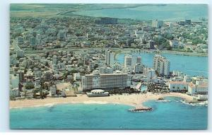 *Condado Miramar Residential Areas San Juan Puerto Rico Vintage Postcard B60