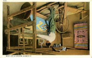 Chimayo Indian Weaver at His loom