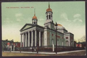 The Cathedral,Baltimore,MD Postcard