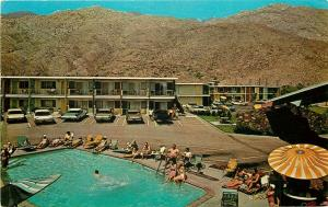CA, Palm Springs, California, Travel Lodge, Pool, Dexter Press No. 74410-B