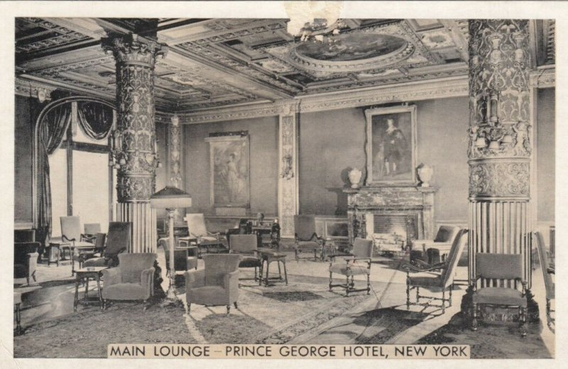 Prince George Hotel , NEW YORK CITY, 1930s ; Main Lounge
