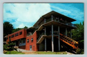 Chattanooga TN-Tennessee, Incline Car & Station, Lookout Chrome c1961 Postcard