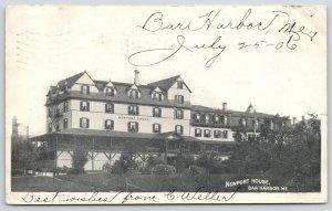 Bar Harbor Maine~Newport House Hotel~C Weller to AE Collins Philadelphia~1906