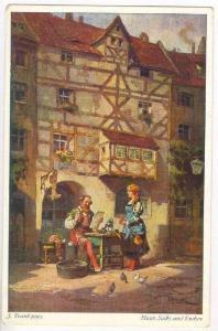 Hans Sachs und Evchen, Signed FRANK, 00-10s