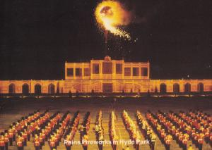 Pains Fireworks Display at Hyde Park London Limited Edition Postcard