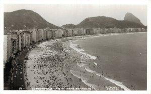 Brazil Copacabana Rio De Janeiro RPPC RPPC 06.52