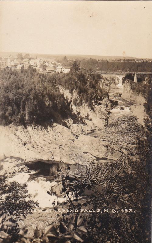 RP, View at Grand Falls, New Brunswick, Canada, 1920-1940s