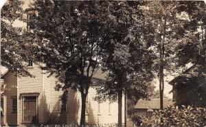 D13/ Gibsonburg Ohio Postcard Real Photo RPPC 1913 Christian Church Building