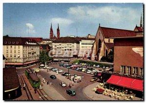 Postcard Modern Basel Barfusserplatz