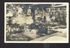 RPPC ST. AUGUSTINE FLORIDA THE FOUNTAIN OF YOUTH VINTAGE REAL PHOTO POSTCARD