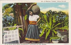 A Mexican Criada, House Servant, Mexico, 1930-1940s