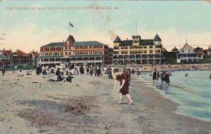Maine York Beach The Fairmount And Wahnita Hotels 1909