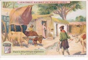 Liebig Vintage Trade Card S973 Argentine Republic No 1 Un Rancho