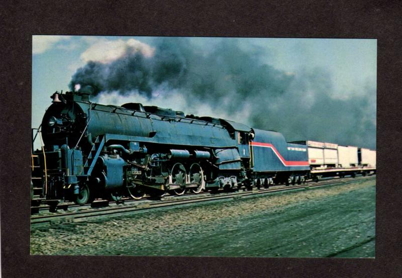 Reading Railroad Train Engine Locomotive # 2101 Freedom Train Postcard